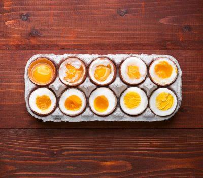 Qual é o tempo de cozimento do ovo?
